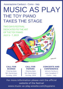 MUSIC AS PLAY THE TOY PIANO TAKES THE STAGE