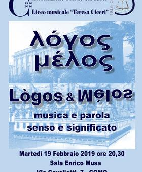 Logos e Melos – 19 febbraio