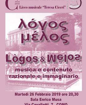 Logos e Melos – 26 febbraio