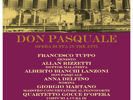 Concerto Inaugurale Don Pasquale – Opera buffa in tre atti